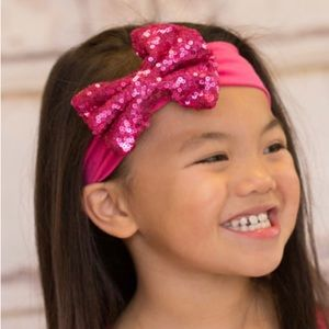 Other - Pink sequin bow headband for girls